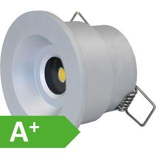 LED Einbaustrahler, 6,3cm Ø, IP65, 3 W, sehr hell, COB, 3000 K, 10376