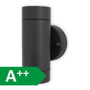 Effektleuchte Wandleuchte UPDown Round darkgrey 2xGU10 IP44 10641