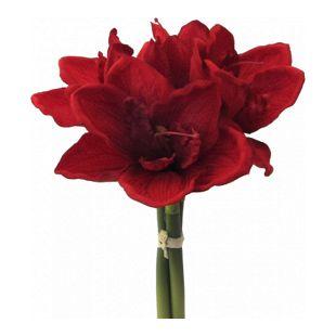 Künstlicher Amaryllis Bund in rot Kunstpflanze