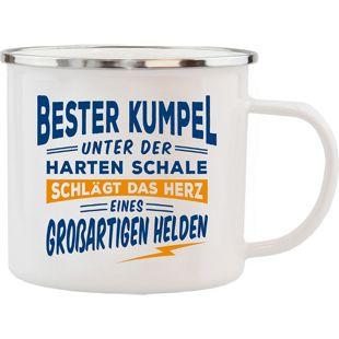 HTI-Living Echter Kerl Emaille Becher Bester Kumpel