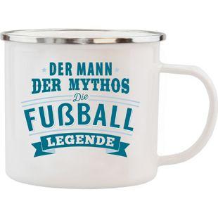 HTI-Living Echter Kerl Emaille Becher Fußball