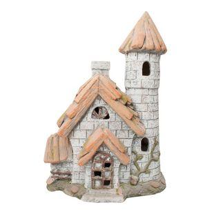 HTI-Line Gartendeko Fairytale Haus mit Turm