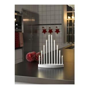 KONSTSMIDE LED Metallleuchter mit 10 warm weißen Dioden