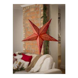 KONSTSMIDE Weihnachtlicher Papierstern, hängend, in rot