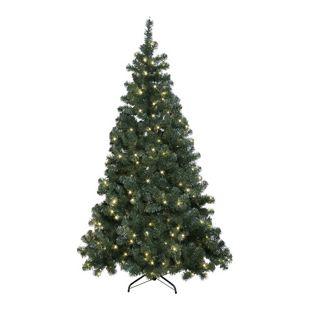 IOVIVO Künstlicher Weihnachtsbaum mit LED Lichterkette für Außen