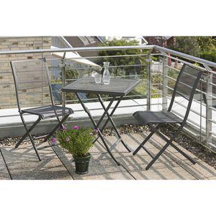 MERXX Balkonmöbel-Set Modena 3-tgl. Klappstuhl und Tisch