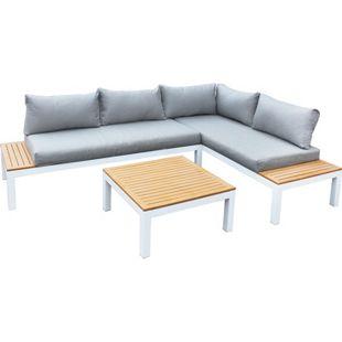 Gartenfreude Lounges Aluminium Lounge Ambience, flexibel einsetzbar mit wasserabweisenden Kissen, WPC-Streben