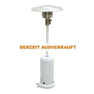 Outsunny Gas Heizpilz Strahler weiß 81,3 x 222 cm (ØxH) | Standheizstrahler Gartenheizung Terrassenstrahler