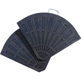 Outsunny Platten-Schirmständer mit Handgriff bronze pro Stück: 66 x 47 x 4,2 cm (LxBxH) | Sonnenschirmständer Sonnenschirmbasis halbrund