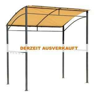 Outsunny Grillpavillon mit Flammenschutzdach silber, gelb 215 x 150 x 180 / 220 cm (LxBxH) | BBQ-Pavillon Partyzelt Bierzelt Gartenpavillon