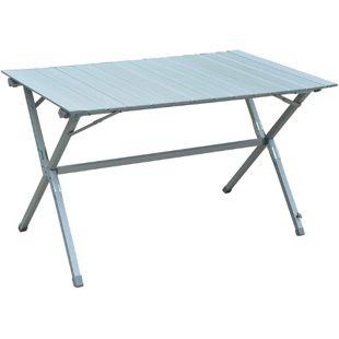 Outsunny Klapptisch mit Tragetasche silber, weiß 116 x 70 x 69 cm (LxBxH) | Rolltisch Universaltisch Campingtisch Gartentisch