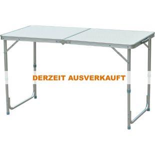Outsunny Campingtisch klappbar silber 120 x 60 x (54-70) cm (LxBxH) | Klapptisch Koffertisch Picknicktisch Esstisch