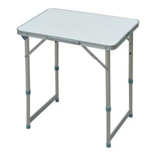 Outsunny Campingtisch in 2 Positionen höhenverstellbar silber 60 x 45 x 65 cm (LxBxH) | Koffertisch Universaltisch Gartentisch Klapptisch