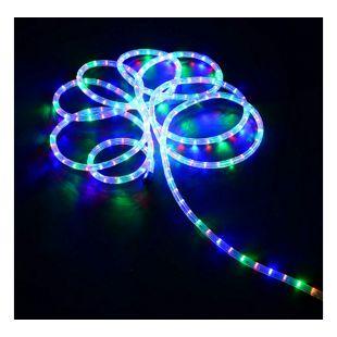 HOMCOM LED Lichterschlauch bunt 13 mm x 20 m (ØxL) | Lichterkette Garten Deko LED Leuchte Leuchtschlauch