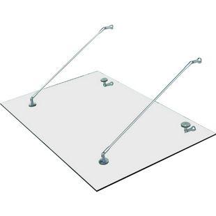 HOMCOM Türvordach transparent 150 x 90 x 1,2 cm (LxBxH) | Vordach Türvordach Verbundsicherheitsglas