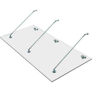HOMCOM Glasvordach transparent 200 x 90 x 1,2 cm (LxBxH) | Vordach Türvordach Verbundsicherheitsglas