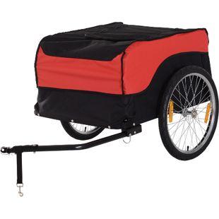 HOMCOM Transportanhänger fürs Fahrrad 130 x 75 x 86 cm (LxBxH) | Transportanhänger Lastenanhänger Fahrrad Anhänger