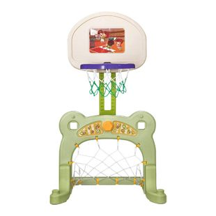 HOMCOM 2 in 1 Basketballkorb inkl. Fußballtor bunt 61 x 53 x 99 cm (LxBxH) | Fußball Basketball Kinder Spielzeug Ball Spiele