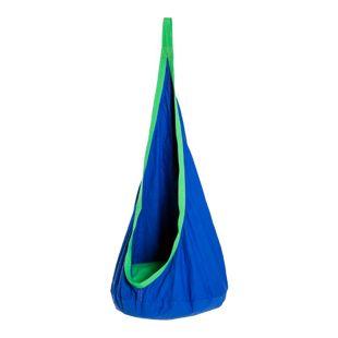 HOMCOM Kinderhängesitz mit Sitzkissen blau 70 x 150 cm (ØxH) | Schaukelsitz Hängesack Hängematte Swing Kindersitz