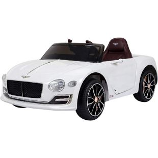 HOMCOM Kinderauto mit Fernbedienung weiß 108 x 60 x 43 cm (LxBxH) | Kinderfahrzeug Elektroauto Bentley Continental