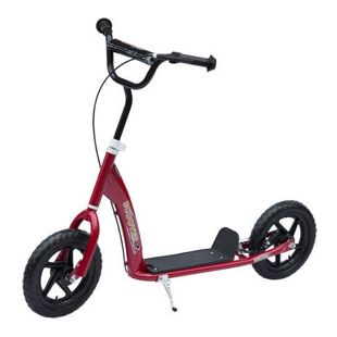 HOMCOM Kinder Cityroller höhenverstellbar rot 120 x 52 x 75-86 cm (LxBxH)   Kids Scooter Kinderroller Tretroller Kickboard