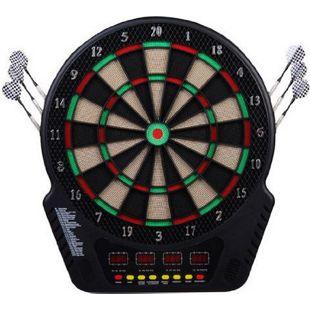 HOMCOM Elektronische Dartscheibe für bis zu 16 Spieler schwarz 44 x 3,2 x 50 cm (BxTxH) | Dartboard Dartscheibe Dartpfeile Spiel Board