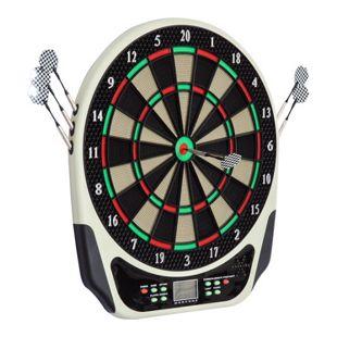 HOMCOM Elektronische Dartboard für bis zu 16 Spielern schwarz, weiß, rot, grün 44 x 3,2 x 50 cm (BxTxH) | Dartscheibe Dartboard Dartpfeile Spiel Board