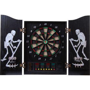 HOMCOM Elektronische Dartscheibe für bis zu 16 Spielern schwarz | Dartboard Dartscheibe Dartpfeile Spiel Board