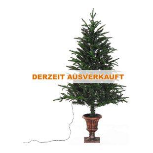 HOMCOM Weihnachtsbaum mit Design-Ständer grün 85 x 150 cm (ØxH) | Tannenbaum Christbaum LED Xmas tree Lichtfaser