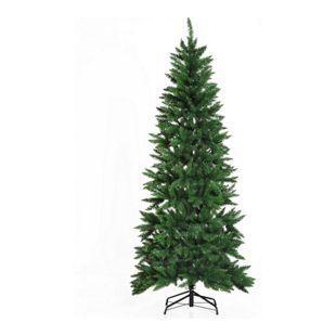 HOMCOM Künstlicher Christbaum mit Metallständer grün 91 x 210 cm (ØxH) | Weihnachtsbaum Tannenbaum LED Xmas tree Lichtfaser