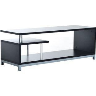 HOMCOM TV Lowboard schwarz 114 x 40 x 40,5 cm (LxBxH) | Fernsehtisch Fernsehschrank Beistelltisch Sideboard