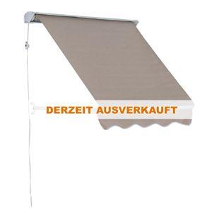 Outsunny Klemmmarkise mit Seilzug 122 x 70 cm (LxB) | Balkonmarkise Markise mit Faltarm Sonnenschutz