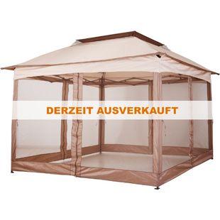 Outsunny Faltpavillon mit Seitenwänden khaki 325 x 325 x 295 cm (LxBxH) | Gartenzelt Pavillon Faltzelt Festzelt Partyzelt