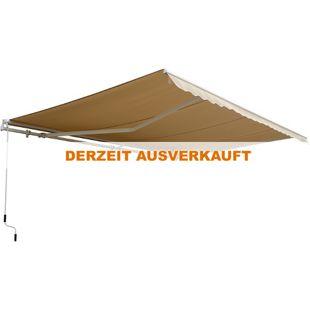 Outsunny Gelenkarmmarkise inkl. Fernbedienung 4,95 x 3 m (BxL) | Kassettenmarkise Balkon Markise Sonnenschutz