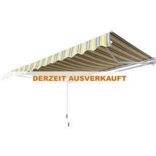 Outsunny Gartenmarkise mit Faltarm 2,95 x 2,5 m (BxL) | Balkonmarkise Standmarkise Sonnenschutz