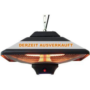 Outsunny Heizstrahler mit Fernbedienung schwarz 43 x 43 x 25 cm (LxBxH) | Heizpilz Terrassenheizung Deckenheizstrahler