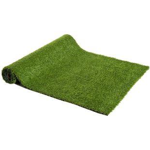 Outsunny Kunstrasen grün 300 x 100 x 2,5 cm (LxBxH) | Kunstrasenteppich Rollrasen Kunststoffrasen