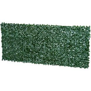 Outsunny Sichtschutzhecke dunkelgrün 300 x 150 cm (LxH) | Künstliche Hecke Zaunblende Windschutz Efeu