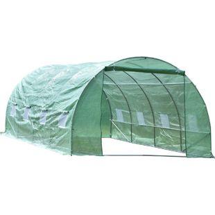 Outsunny Foliengewächshaus grün 600 x 300 x 200 cm (LxBxH)   Treibhaus Tomatenhaus Gewächshaus Frühbeet