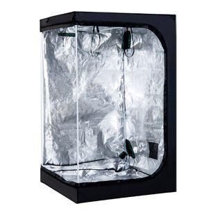 Outsunny Growbox schwarz 120 x 120 x 200 cm (LxBxH) | Growzelt Growschrank Zuchtschrank Pflanz Box