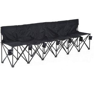 Outsunny Campingbank mit Tragetasche 279 x 48 x 80 cm (LxBxH)   Faltbank 6-Sitzer Gartenbank Campinfg Sitzbank