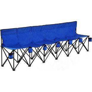 Outsunny Campingbank mit Tragetasche 279 x 48 x 80 cm (LxBxH) | Faltbank 6-Sitzer Gartenbank Campinfg Sitzbank