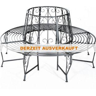Outsunny Baumbank im geschmackvollen Design silber 160 x 90 cm (ØxH) | Rundbank Sitzbank Metallbank 360 ° Gartenbank