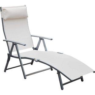 Outsunny Gartenliege mit Kissen | Sonnenliege Strandliege Relaxliege Freizeitliege