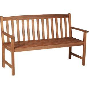 Outsunny Holzbank als 3-Sitzer natur 145 x 66 x 89 cm (LxBxH) | Parkbank Sitzbank Gartenbank Gartenmöbel
