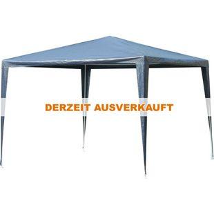 Outsunny Pavillon mit wasserabweisendem Dach blau, weiß 300 x 300 x 245 cm (LxBxH) | Gartenpavillon Gartenzelt Festzelt Partyzelt Zelt