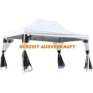 Outsunny Faltzelt mit Seitenwänden weiß 450 x 300 x 320 cm (LxBxH) | Pavillon Faltpavillon Festzelt Gartenpavillon