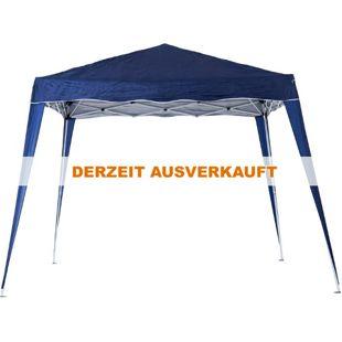 Outsunny Faltpavillon mit Tragetasche blau 3 x 3 x 2,4 m (LxBxH) | Faltzelt Gartenzelt Partyzelt Pavillon Bierzelt