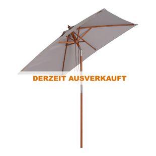 Outsunny Sonnenschirm knickbar 200 x 150 x 230 cm (LxBxH) | Gartenschirm Strandschirm Balkonschirm knickbar