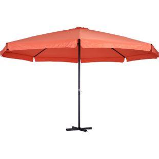 Outsunny Gartenschirm mit Handkurbel 500 x 295 cm (ØxH)   Terrassenschirm Marktschirm Sonnenschirm Schirm